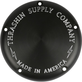 Thrashin Supply Billet 5-Hole Derby Cover 2018-20 Harley Softails* - Black / Machined