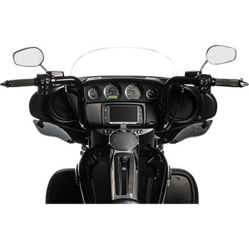"""Fat Baggers 1-1/2"""" EZ Install Round Top 14"""" Handlebar Kit for 2014-2020 Harley Touring - Black"""
