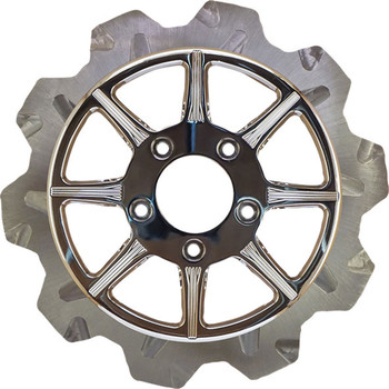 Lyndall Crown Cut Phoenix Brake Rotor for Harley