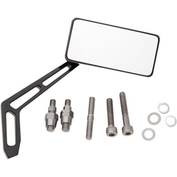 Pro One Performance Black Rectangular Aluminum Mirror - Right Side