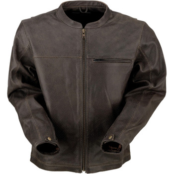 Z1R Munition Performance Brown Leather Jacket
