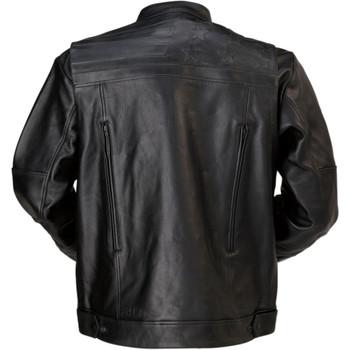 Z1R Deagle Leather Jacket - Black