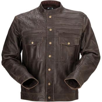 Z1R Deagle Leather Jacket - Brown