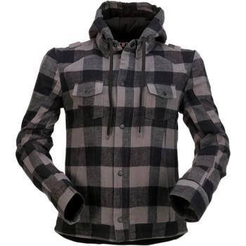 Z1R Women's Timberella Flannel Shirt - Gray/Black