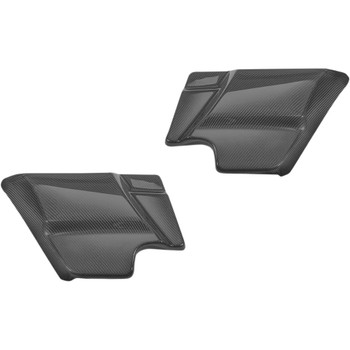 Slyfox Carbon Fiber Side Covers for 2014-2020 Harley Touring - Matte
