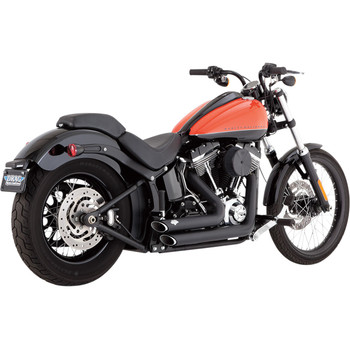 Vance & Hines Shortshots Staggered Exhaust for 2012-2017 Harley Softail - Black