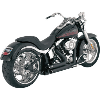 Vance & Hines Shortshots Staggered Exhaust for 1986-2011 Harley Softail - Black