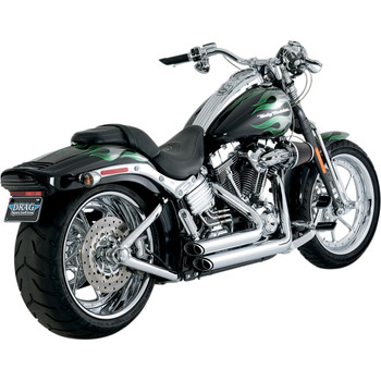 Vance & Hines Shortshots Staggered Exhaust for 1986-2011 Harley Softail - Chrome