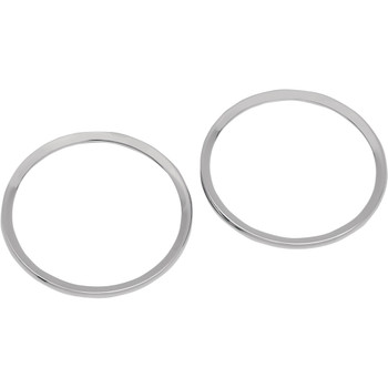 Drag Specialties Chrome Speaker Bezels for 1996-2013 Harley Touring