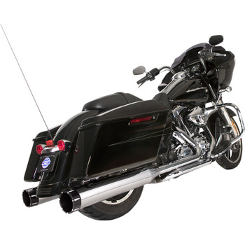 S&S El Dorado 2-2 50-State Exhaust System for 2009-2016 Harley Touring - Chrome with Tracer Caps