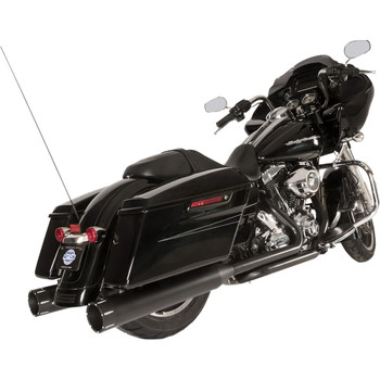 S&S El Dorado 2-2 50-State Exhaust System for 2009-2016 Harley Touring - Black with Tracer Caps