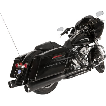 S&S El Dorado 2-2 50-State Exhaust System for 2009-2016 Harley Touring - Black with Thruster Caps