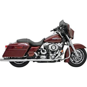 "Bassani Chrome 3.5"" Slip-On Mufflers for 1995-2016 Harley Touring - Straight Cut"