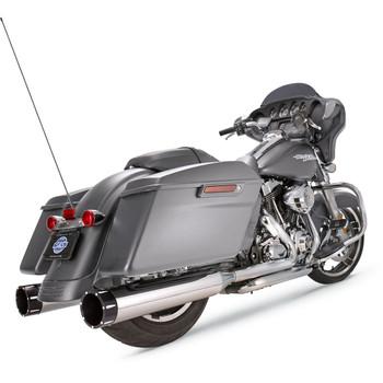 "S&S 4-1/2"" MK45 Performance Mufflers for 2017-2020 Harley Touring - Chrome / Black End Caps"