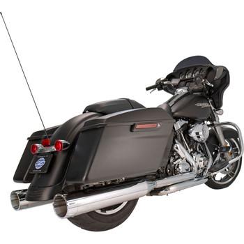 "S&S 4-1/2"" MK45 Performance Mufflers for 1995-2016 Harley Touring - Chrome / Chrome End Caps"