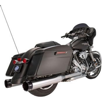 "S&S 4-1/2"" MK45 Performance Mufflers for 1995-2016 Harley Touring - Chrome / Black End Caps"