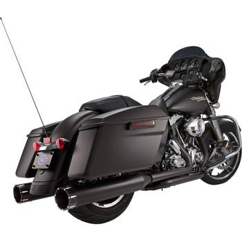 "S&S 4-1/2"" MK45 Performance Mufflers for 1995-2016 Harley Touring - Black / Black End Caps"