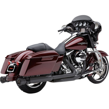 "Cobra 4.5"" Race-Pro Slip-Ons Exhaust Mufflers for 1995-2016 Harley Touring - Raven Black"