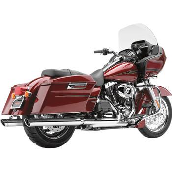 """Cobra 3"""" Slip-On Mufflers for 1995-2016 Harley Touring - Chrome"""