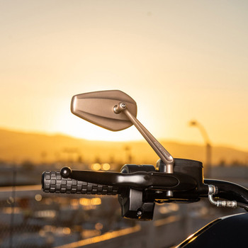 Arlen Ness Mini Stocker Mirrors for Harley - Titanium
