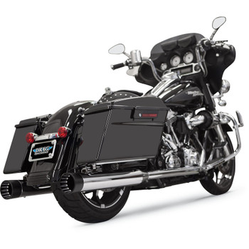 """Bassani 4"""" DNT Straight Can Mufflers with Acoustically Tuned Baffle for 1995-2015 Harley Bagger"""