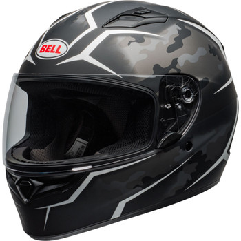 Bell Qualifier Stealth Camo Helmet - Matte Black/White