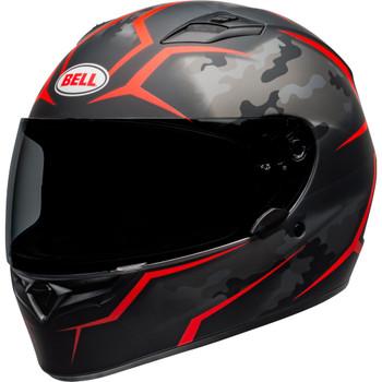 Bell Qualifier Stealth Camo Helmet - Matte Black/Red