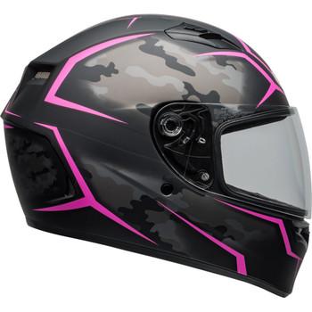 Bell Qualifier Stealth Camo Helmet - Matte Black/Pink