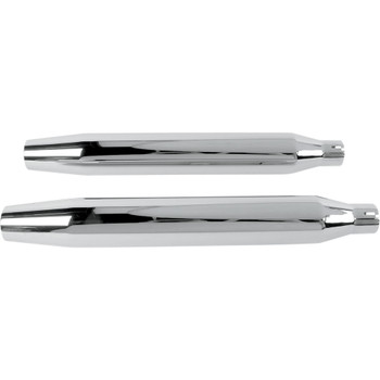 "Khrome Werks Chrome 3"" HP-Plus Slip-On Mufflers for 2007-2017 Harley Softail - Tapered"