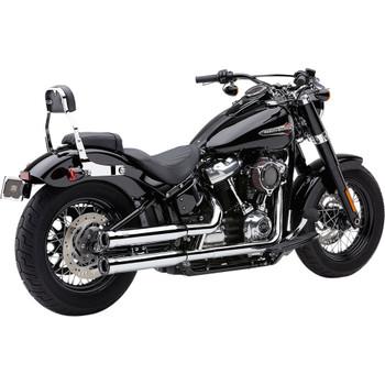 """Cobra 3"""" RPT Slip-On Mufflers for 2018-2020 Harley Softail Models - Chrome"""