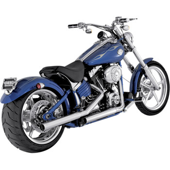 Vance & Hines Straightshots Slip-On Mufflers for 2007-2017 Harley Softail Models - Chrome