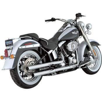Vance & Hines Straightshots Slip-On Mufflers for 2007-2017 Harley Softail FLST/FLS - Chrome