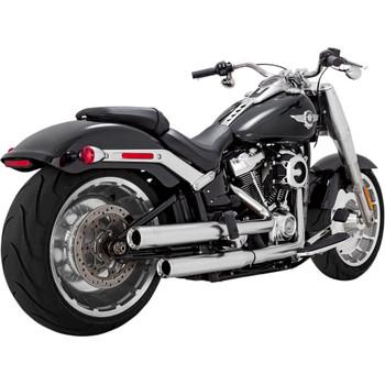 "Vance & Hines 3"" Eliminator 300 Slip-On Mufflers for 2018-2020 Harley Softail - Satin Chrome"