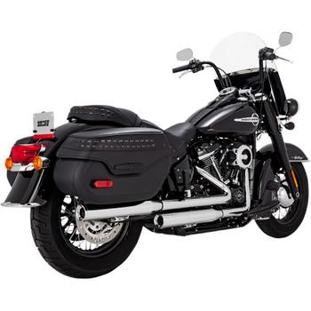 """Vance & Hines 3"""" Eliminator 300 Slip-On Mufflers for 2018-2020 Harley Softail FLHC/FLDE - Chrome"""