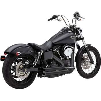 Cobra 909 2-Into-2 Exhaust for 2012-2017 Harley Dyna FXD/FXDWG - Black