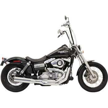 Bassani Road Rage B1 Power Exhaust for 1991-2017 Harley Dyna FXD/FXDWG - Chrome
