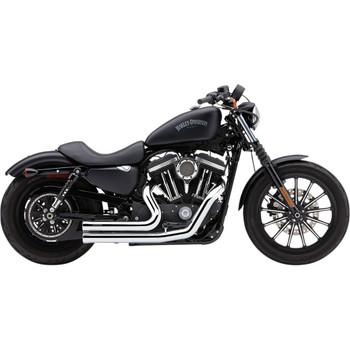 Cobra Speedster Short 909 Exhaust for 2014-2020 Harley Sportster - Chrome