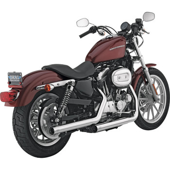 Vance & Hines Chrome Straightshots Slip-On Mufflers for 2004-2013 Harley Sportster