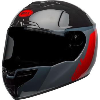 Bell SRT Helmet - Razor Gloss Black/Gray/Red