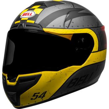 Bell SRT Helmet - Devil May Care Matte Gray/Yellow