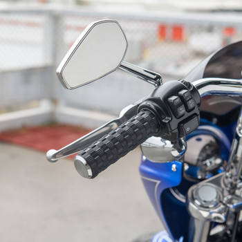 Arlen Ness Airtrax Grips for Harley Electronic Throttle - Chrome