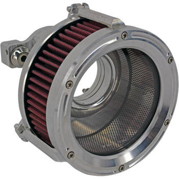 Trask Assault Charge High-Flow Air Cleaner for 1991-2020 Harley Sportster - Raw Machined