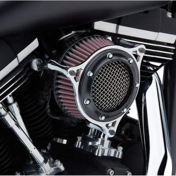 Cobra RPT Air Cleaner for 1999-2017 Harley Twin Cam Cable Throttle - Black/Chrome