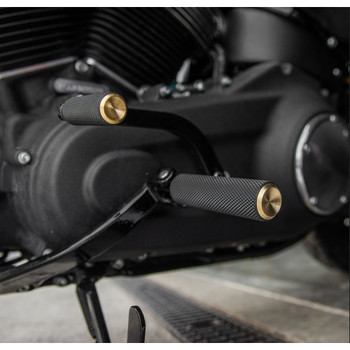 Arlen Ness Knurled Fusion Foot Pegs for Harley - Brass