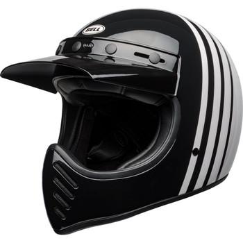 Bell Moto 3 Helmet - Reverb Gloss White/Black