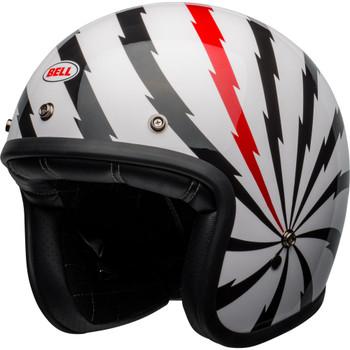 Bell Custom 500 Helmet - Vertigo Gloss White/Black/Red
