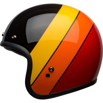 Bell Custom 500 Helmet - Riff Gloss Black/Yellow/Orange/Red