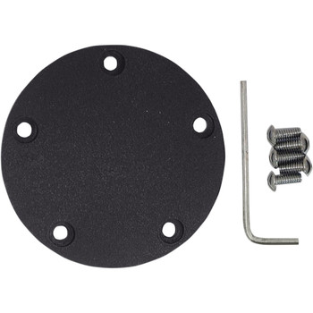 Drag Specialties Spherical Radius Points Cover for Harley Twin Cam - Wrinkle Black