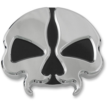 Drag Specialties Vented Split Skull Gas Cap for 1996-2020 Harley - Chrome