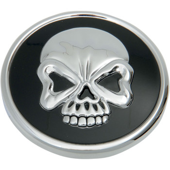 Drag Specialties Vented Skull Gas Cap for 1984-1996 Harley - Chrome/Black